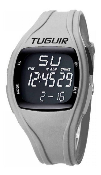 Relógio Tuguir Digital Tg1602 Cinza E Preto