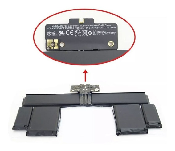 Bateria Apple Macbook A1437 A1425 2012 2013 Retina (oem)
