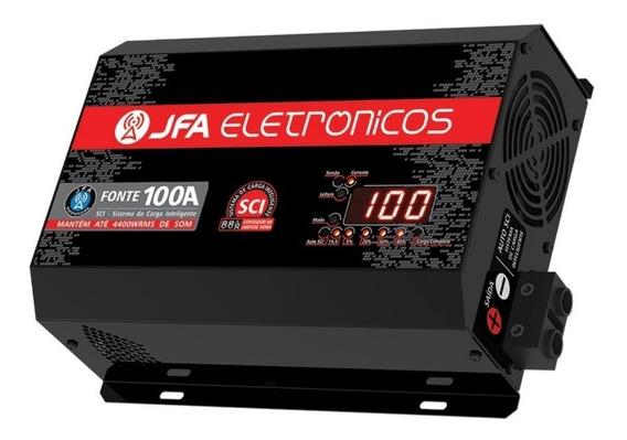 Fonte Carregador Bateria Jfa 100a Com Voltimetro Digital