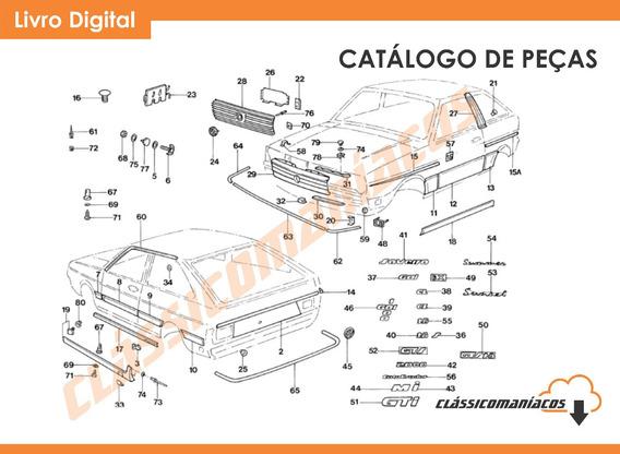 Catálogo Peças Vw Gol Bx Ls Cl Gt Gti Gts Ae Ap 1980 - 1996