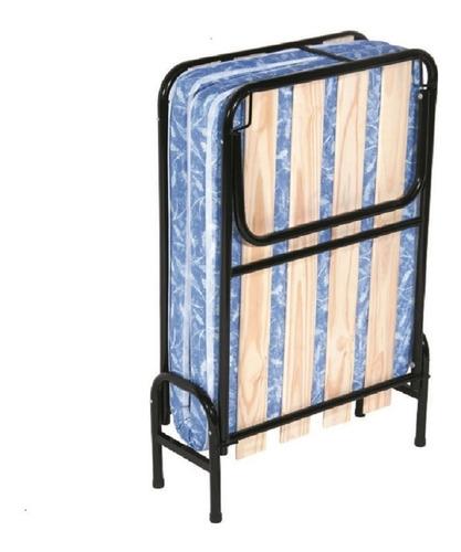 Cama Catre 1 Plaza  Plegable Colchon  Premium Envio