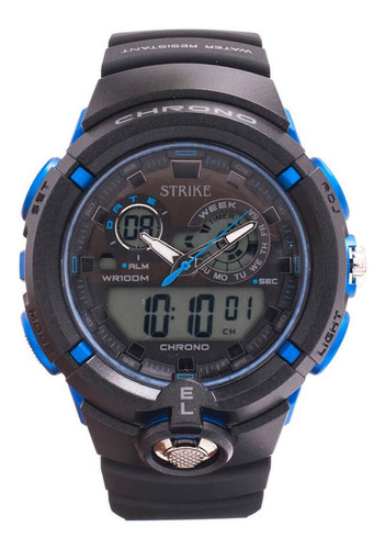 Reloj Strike Watch Ad1188-0aea-bkbu En Resina Para Hombre