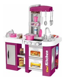Cocina Cocinita Infantil Luz, Sonido Y Agua 53 Piezas