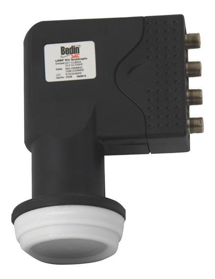 Lnbf Ku Quádruplo Para Antenas De 45 À 90cm Bedin Sat
