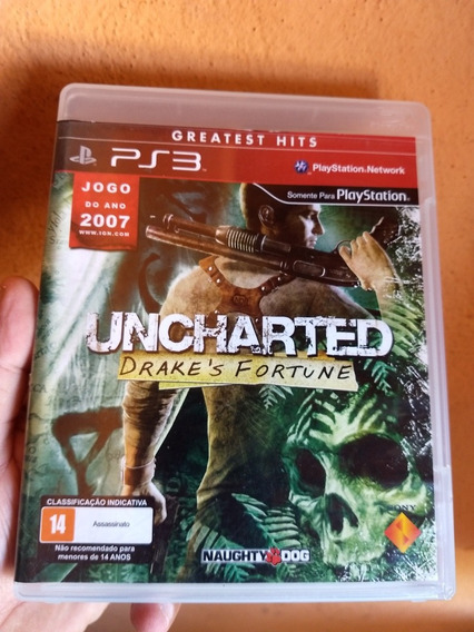 Uncharted 1 Ps3 Midia Fisica Semi Novo Original