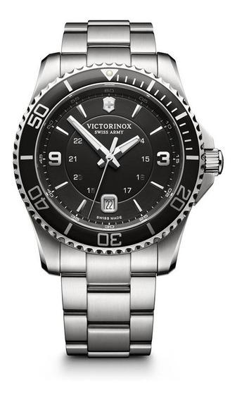 Relógio Victorinox 241697 Maverick Prata Original