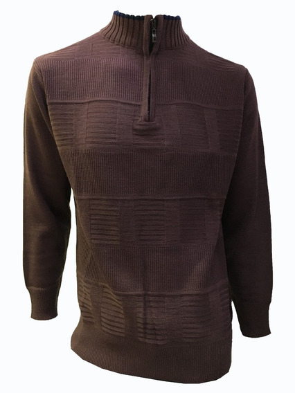 Suéter Uva Cuello V Cierre Hombre