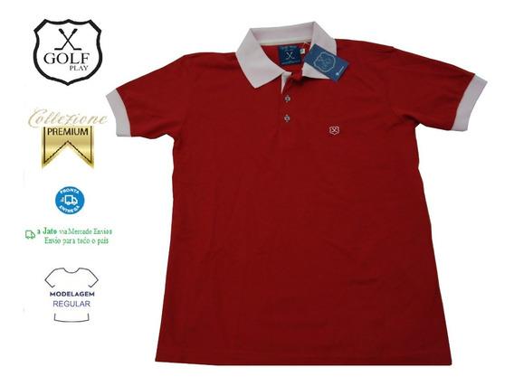 Golf Play Camisa Camiseta Pólo Masculina