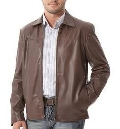 Jaqueta De Couro Legítimo Masculina Comprida - X125gg Marrom