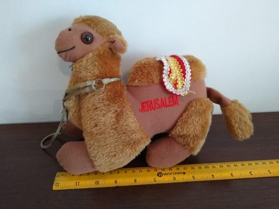 Camelo Pelúcia Usado 21cm Lembrança De Jerusalém Funcionando