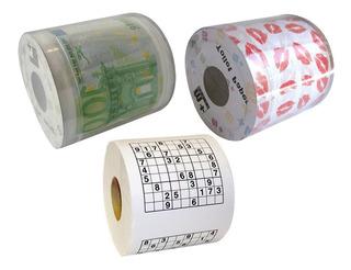 Rollo Papel Higiénico Euro Besos Sudoku Deco Tienda Pepino