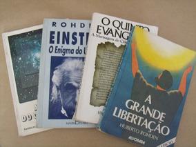 Lote Huberto Rohden 4 Livros Grande Libertaçao 5º Evangelho