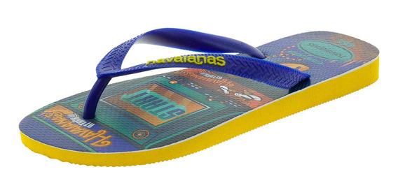 Chinelo Masculino Mood Havaianas - 4137119 Azul/amarelo