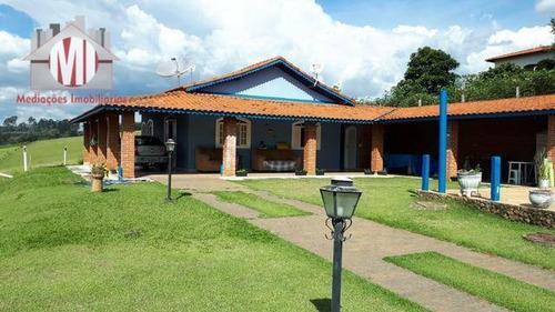 Linda Chácara Com 03 Dormitórios, Piscina, Espaço Gourmet, À Venda, 1000 M² Por R$ 580.000 - Zona Rural - Pinhalzinho/sp - Ch0077