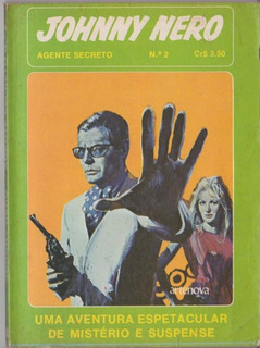Hq Agente Secreto Johnny Nero Nº 2 Artenova Raridade!