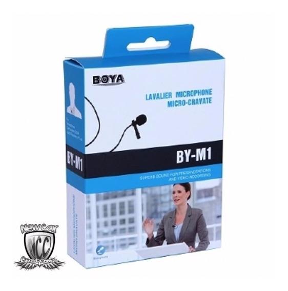 Microfone De Lapela M1 La Boya By-m1 Para Câmeras E Smart