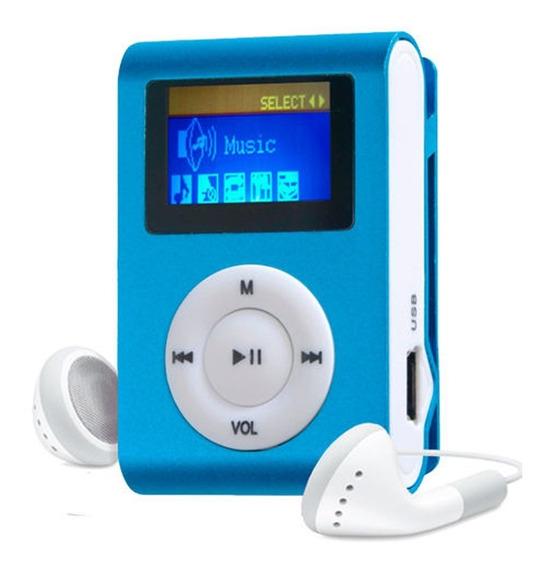 Atacado 10 Mp3 Player Mini Shuflle Radio Fm Visor Lcd Sdcard