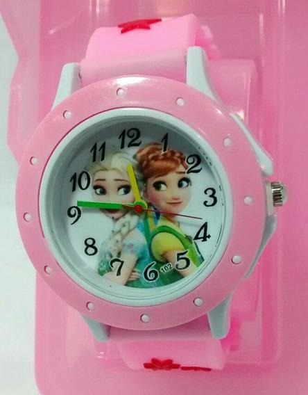 Relógio Infantil Frozen Com Caixinha Barato Promoção