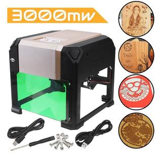 Maquina De Grabado Laser 3000mw Usb Cnc Area Grabado 8cmx8cm