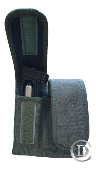Porta Cargador 9mm Doble Verde Oliva Termoformado