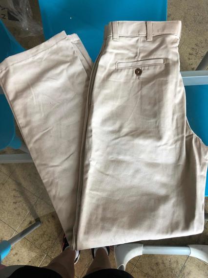 Pantalon De Gabardina Niño Color Cemento Talle 16 Nuevo