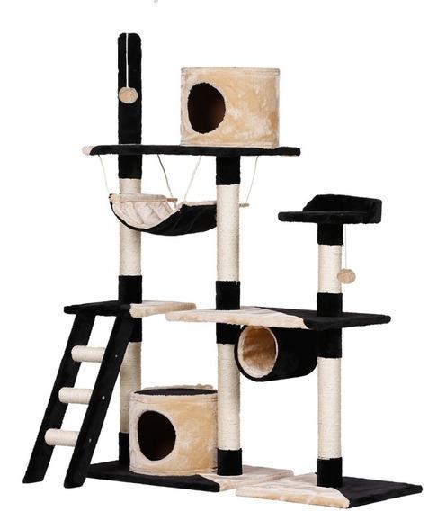 Arranhador Para Gatos Casinhas E Rede