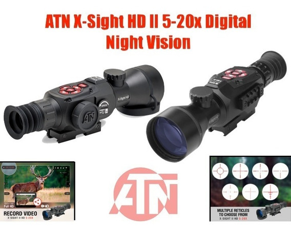 Mira Telescopica Atn X-sight Ll Hd 5-20x Vision Nocturna Xtr