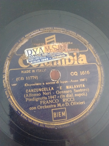 Franco Ricci Disco Pasta Columbia Cq1616 C25