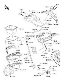 39012-0034 Caixa Armazenamento - Jet Ski Kawasaki
