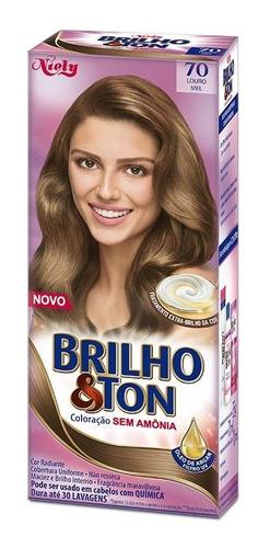 Tintura Brilho&ton 7.0 Louro Mel