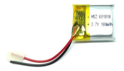 Imagen 1 de 1 de Bateria De Litio 601818 3.7v 140mah 18x18x6mm