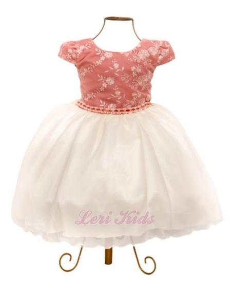 Vestido Infantil Casamento Daminha Luxo Frete Grátis