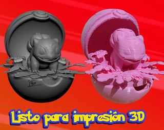 Modelado 3d De Pokemon Para Impresión