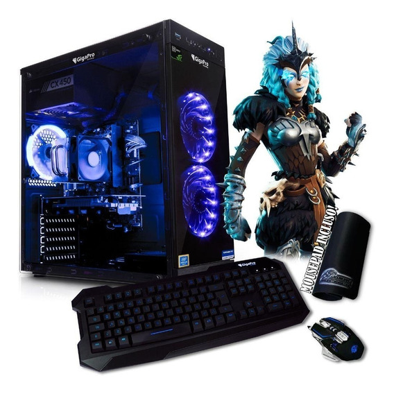 Cpu Pc Gamer I5 8400 H310 1tb 8gb Gtx1050ti 4gb Wpkm Gigapro