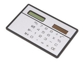 Calculadora Solar Fina - Branca