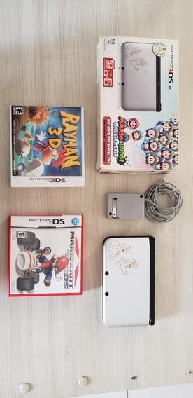 Console Nintendo 3ds Xl Mario E Luigi Ed Especial - Usado