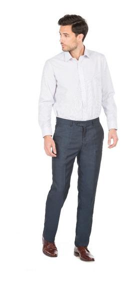 Pantalón Vestir Satinado Fantasía Entallado Hombre Macowens