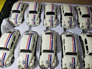 Fusca Herbie 1300 Custom Escala 1:32 Cor Bege