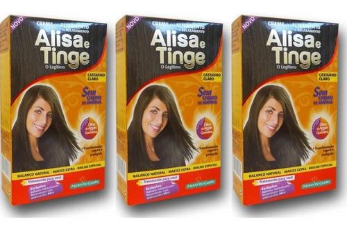 Aroma Do Campo Alisa E Tinge Castanho Claro (kit C/03)