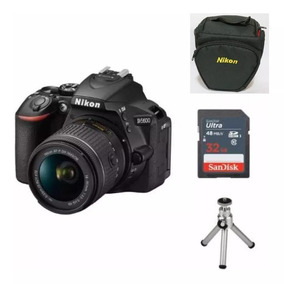 Câmera Nikon D5600 C/18-55mm Af-p Dx+32gb+bolsa+tripé