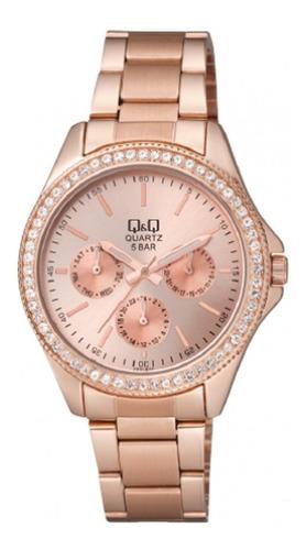 Reloj Q&q Qyq Ce01j010y Para Dama Lujoso Original Oro Rosa
