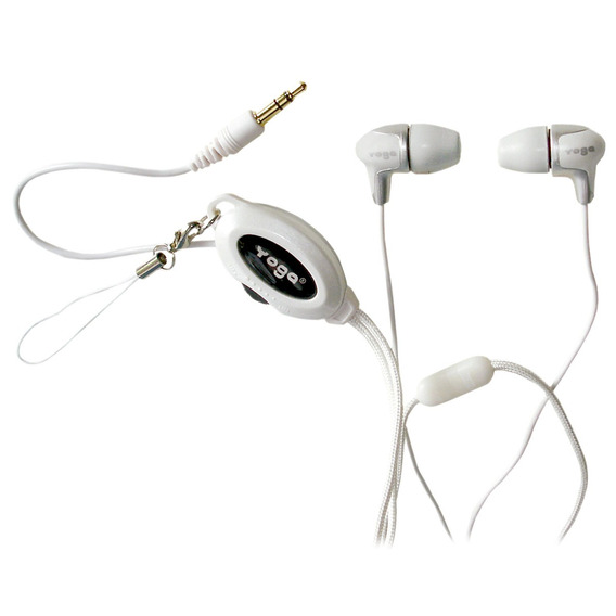 Headphone Intra-auricular Branco Yoga Cd368 - Parcelas 12x
