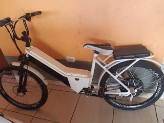 Bicicleta Elétrica Duos 350w Três Velocidade Bateria Para O Dia Todo