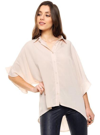 Camisa De Voile Con Volados Mia Loreto Modelo Canaria