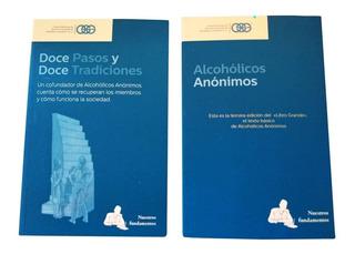 Libro A A 12 Pasos, 12 Tradiciones Y Libro Azul Alcohólicos