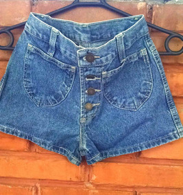 Shorts Jeans Cintura Alta Tamanho Pp