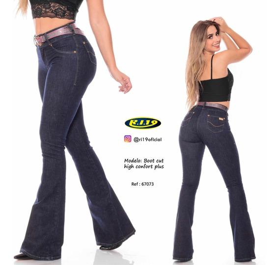 Calça Flare Jeans Feminino Ri 19 Ref 67073