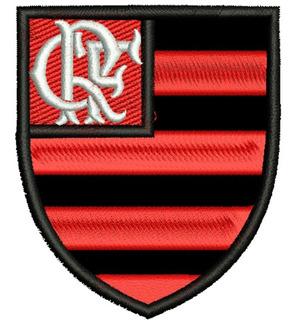 Patch Bordado Time Futebol Flamengo Escudo Kit 3 Peças 8cm.