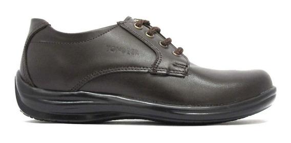 Zapato Escolar Negro Niño Y Niña Piel 22-26 Yondeer 8602