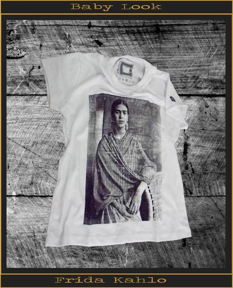 Camisa Camisetas Masculina E Baby Look Frida Kahlo